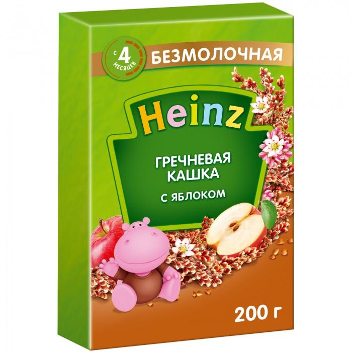 Каши Heinz Безмолочная Гречневая каша с яблоком с 4 мес. 200 г каша безмолочная bebi premium гречневая с яблоком с 4 мес 200 г