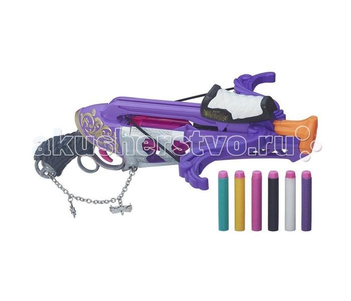 Nerf Hasbro N-Rebelle Чарм Арбалет ФортунаHasbro N-Rebelle Чарм Арбалет ФортунаАрбалет N-Rebelle Чарм Арбалет Фортуна создан специально для девочек. У него очень эффектный и стильный дизайн, использованы яркие цвета. К стволу арбалета крепится металлических браслет серебристого цвета, его также можно использовать в качестве оригинального украшения.  Это игрушечное оружие совершенно безопасно для ребенка, поскольку стрелы очень мягкие и имеют минимальный вес, а значит, не оставляют на теле синяков при попадании. В комплект входят 6 стрел разных цветов (бирюзовый, желтый, розовый, черный, белый, фиолетовый), на каждой предусмотрен яркий розовый наконечник - с ним будет проще найти стрелу в снегу или траве после выстрела.   Арбалет можно зарядить сразу 6 стрелами, что позволит ребенку не отвлекаться на перезарядку после каждого выстрела.<br>