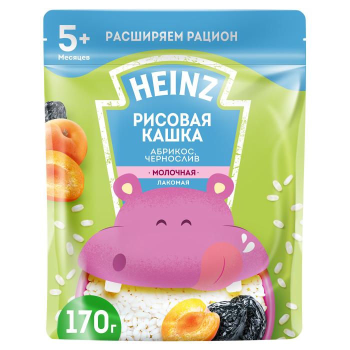 Фото Каши Heinz Молочная Лакомая рисовая каша Абрикос, чернослив с 5 мес. 200 г