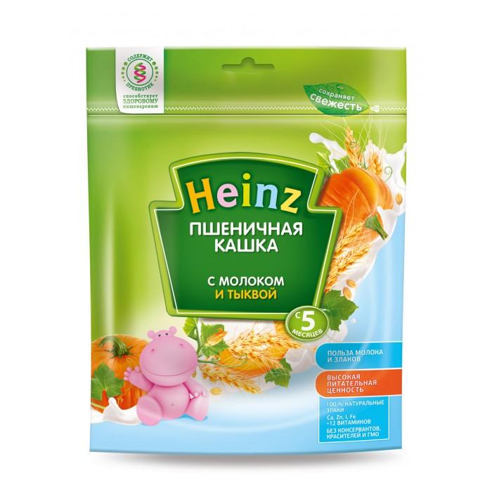 Каши Heinz Молочная Пшеничная каша с тыквой с 5 мес. 250 г каши heinz безмолочная рисово пшеничная каша с кабачками с 5 мес 200 г