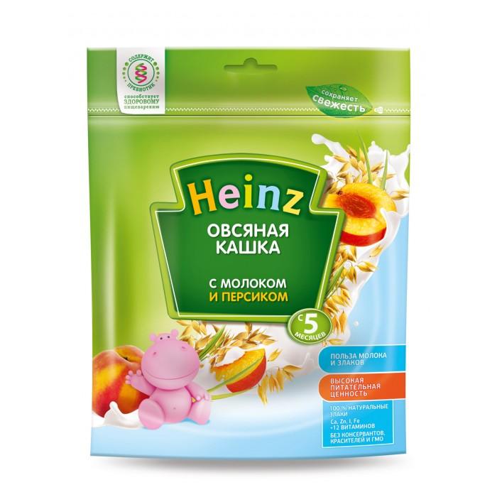 Каши Heinz Молочная Овсяная каша с персиком с 5 мес. 250 г heinz каша овсяная с бананом и молоком с 6 месяцев 250 г