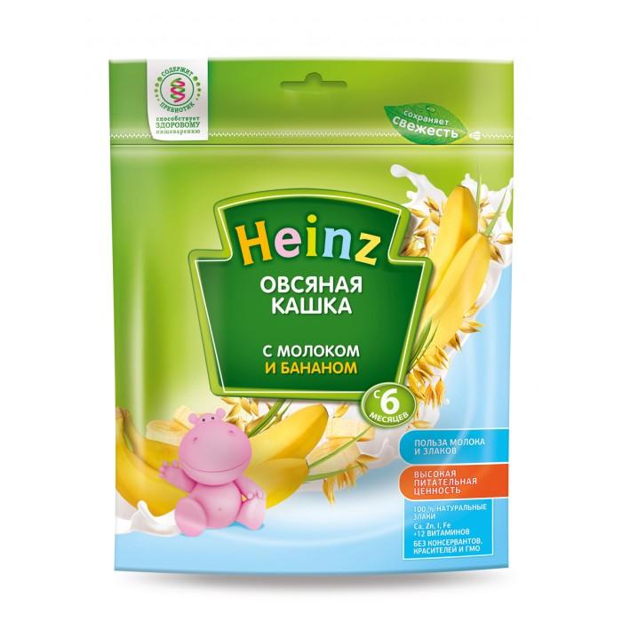 Каши Heinz Молочная Овсяная каша с бананом с 5 мес. 250 г каша молочная heinz овсяная с бананом с 6 мес 250 г