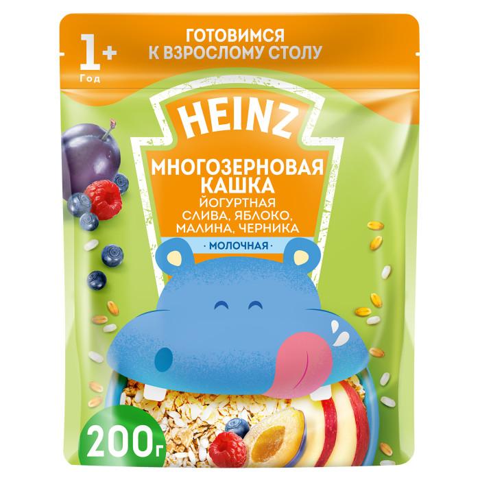 Фото Каши Heinz Молочная Многозерновая каша Йогурт, слива, яблоко, малина, черника с 1 года 200 г