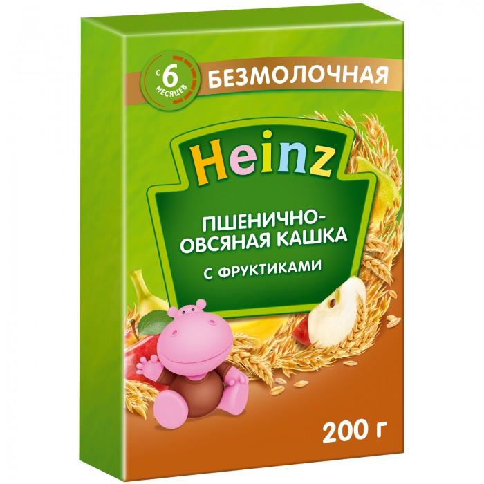 Каши Heinz Безмолочная Пшенично-овсяная каша с фруктиками с 6 мес. 200 г молочно овсяная с бананом с пребиотиками жидкая с 6 мес 200 мл