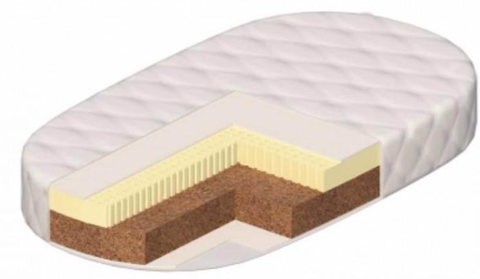 Матрас Vikalex Венеция 125х65х12 овальныйВенеция 125х65х12 овальныйМатрас в кроватку Vikalex Венеция 125х65х12 - это двухсторонний матрас разной степени жесткости на основе кокосового волокна и латекса. Жесткая кокосовая койра формирует осанку ребенка. Чехол содержит пропитку с добавлением алоэ-вера, обработан также от клещей. С таким матрасом сон ребенка будет безмятежным. Европейский сертификат соответствия СЕ / Сертификат РСТ   Состав матраса: Анатомический латекс (35 мм.)  Латексированная кокосовая койра (60 мм.)  Нетканый материал Airotek  Стеганый съемный чехол на молнии (ткань Stress Free) с пропиткой Алоэ-вера  Кокосовая койра. Кокосовая койра известна эластичностью, прочностью и долговечностью. Помимо прочности и износоустойчивости, кокосовые матрасы обладают рядом таких преимуществ, как гипоалергенность, влагоустойчивость (кокосовая койра не впитывает воду) и воздухопроницаемость.  Латекс натуральный. Латекс - это тоже натуральный материал - вспененный сок каучукового дерева. Он очень упругий, поэтому прекрасно восстанавливает первоначальную форму. Он также выполняет главное условие ортопедических матрасов.<br>
