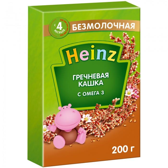 Каши Heinz Безмолочная Гречневая каша Омега-3 с 4 мес. 200 г каши heinz безмолочная гречневая кашка я большой с 12 мес 250 г