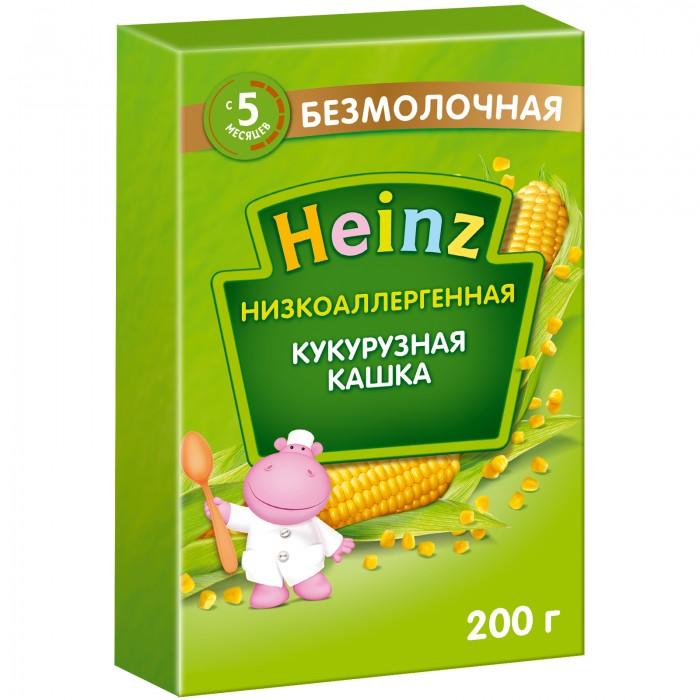 Каши Heinz Безмолочная Низкоаллергенная кукурузная каша с 5 мес. 200 г