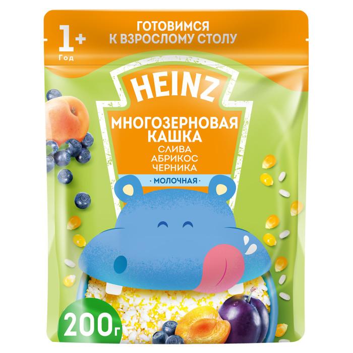 Фото Каши Heinz Молочная Многозерновая каша Слива, абрикос, черника с 1 года 200 г