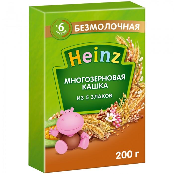Каши Heinz Безмолочная многозерновая кашка из 5 злаков с 6 мес. 200 г каши heinz безмолочная гречневая кашка я большой с 12 мес 250 г