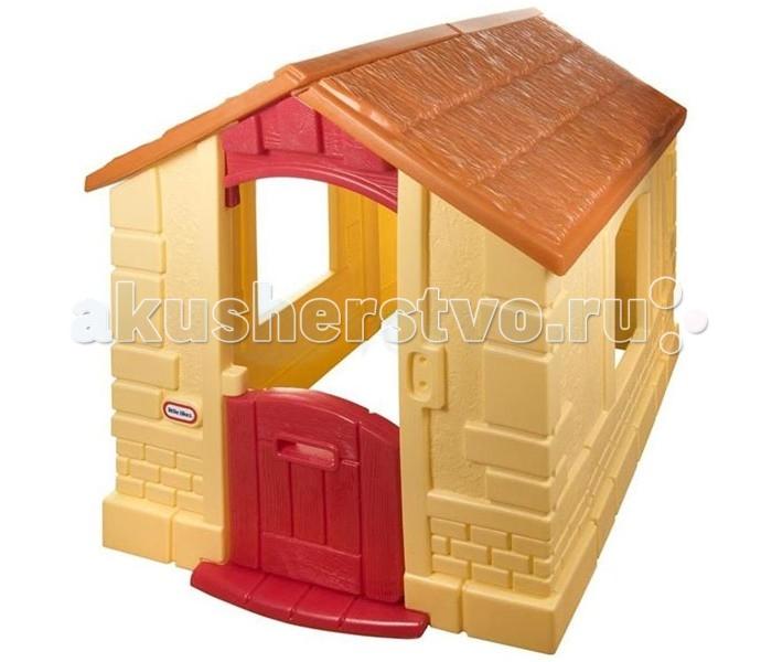 Little Tikes Игровой домик 172786Игровой домик 172786Просторный и уютный домик желтого цвета прекрасно подойдёт для игр малыша от 18 месяцев и старше. Детский домик поможет развить в нём навыки ответственности и соблюдения порядка. На стенах домика имитирована кирпичная кладка, крыша выполнена под черепицу. У входной двери установлен звонок.  Домик для детей изготовлен из высококачественного прочного пластика и прекрасно подойдёт для установке как в квартире, так и на дачном участке. Специальный состав пластика устойчив к воздействию солнечных лучей, поэтому даже через несколько сезонов цвета не потеряют своей яркости и привлекательности.  Звонок с 6 мелодиями Выдерживает температуру до -18 С  Размер домика в собранном виде 118 х 101 х 112 см<br>