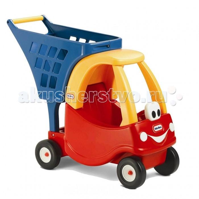 Каталка-игрушка Little Tikes МашинкаМашинкаУютная машинка с улыбающимся лицом поможет детям при покупке. Автомобиль с корзиной могут быть использованы при посещении реальных магазинов, но это также отличная идея для развлечения.  Игрушка может быть использована как для перевозки мягких игрушек и кукол.  Дети могут использовать ее как на улице, так и в помещении. Автомобиль с корзиной стимулирует воображение детей, поощряет создание и воспроизведение сцены ситуационных ролей.  Размер: 68 х 26 х 57 см<br>