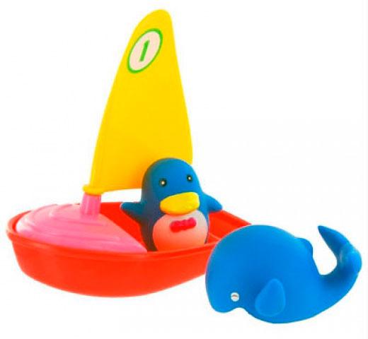 Игрушки для ванны Курносики Игрушка для ванной Удивительная регата эллинг для яхты в крыму