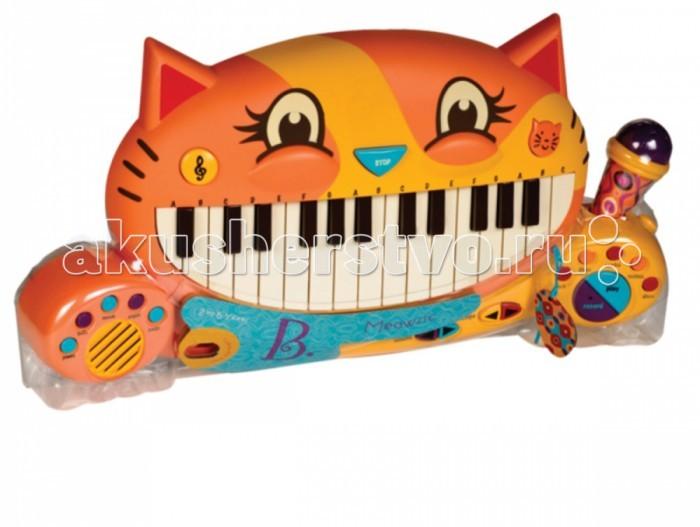 Музыкальная игрушка Battat Мини-пианиноМини-пианиноМузыкальная игрушка Battat Мини-пианино большинство малышей из всех инструментов предпочитают именно пианино.   Нажав клавишу, можно услышать не только традиционный звук, но также колокольчики, орган, банджо и многое другое. Прежде чем приступить к собственным записям, есть смысл прослушать 20 записанных песен и 7 мелодий, чтобы понять, как же работает этот чудо-инструмент.   Сочиняйте как вам удобно. Можно сначала написать слова к песне, а потом уже мелодию. Или же наоборот. Хит получится в любом случае, ведь пианино способно записывать, да еще и оснащено выдвижным микрофоном к тому же. И опять же не простым, а увеличивающим громкость!  В набор входят 4 батарейки AA.<br>