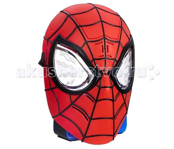 Hasbro Spiderman Маска Человека-ПаукаSpiderman Маска Человека-ПаукаС потрсащей реалистичность маской Человека Паука от всемирно известной компании Hasbro ваш ребенок сможет почувствовать себ настощим супергероем!   Она выполнена в дизайне, аналогичном оригинальному костму Спайдермена: рко-красна маска с черными полосками, с использованием синего цвета. В данной маске, все точно примут ного геро за настощего Человека-Паука!   Юные поклонники Человека-Паука навернка будут рады примерить на себ роль лбимого супергеро, борца со злом, и разыграть лбиму сценку из мультфильма.   С маской Человека-Паука така сжетно-ролева игра станет еще интереснее, увлекательнее и правдоподобнее. Также данна маска может активировать до 40 различных фраз из фильмов и мультфильмов о Человеке-Пауке и имеет различные подсветки!<br>