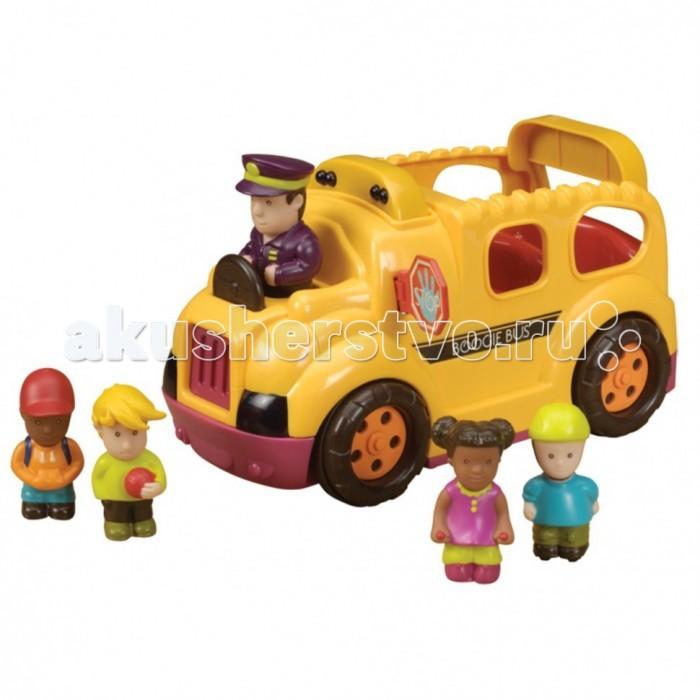 Battat Школьный автобус 68632Школьный автобус 68632Battat Школьный автобус 68632 яркая и веселая игрушка для Вашего малыша. Чтобы машинка поехала, нужно нажать на голову водителя автобуса, и она поедет. Если автобус наткнется на препятствие, он остановится и поедет назад. У автобуса имеется аварийный выход сзади.   Игрушка автоматически отключается, что существенно продлевает срок службы батареек.   В комплект входят 3 батарейки АА.<br>