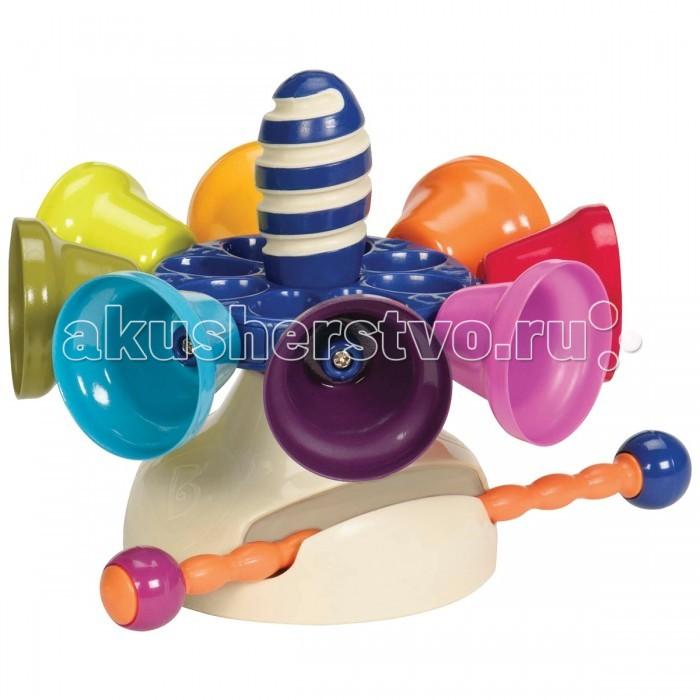 Музыкальна игрушка Battat Карусель колокольчиковКарусель колокольчиковМузыкальна игрушка Battat Карусель колокольчиков рка и необычайно красива игрушка сделает из детской игры настощий праздник, она дарит Вашим глазам радость, а слуху – неверотный каскад насыщенных и притных звуков.   В игрушке есть семь колокольчиков, что совершенно не случайно, так как то число соответствует количеству нот. В игрушке также имеетс семь записанных мелодий, которые малыш будет с удовольствием слушать снова и снова.  С игрушкой ребенок будет сочинть собственные мелодии дл песен и танцев. Карусель следует раскрутить и ударть палочкой по колокольчикам, каждый из которых имеет свой тон. Завершив игру палочку можно спртать в подставку игрушки. С колокольчиками малыш сможет играть, держа игрушку в руках или поставив ее на стол.<br>