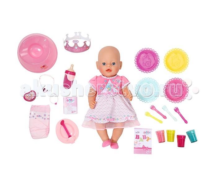 Zapf Creation Baby Born Кукла Интерактивная Праздничная 43 см