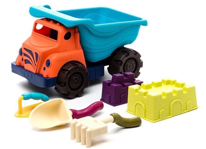 Игрушки в песочницу Battat B.Summer Большой самосвал и игровой набор для песка грузовик самосвал battat 68023