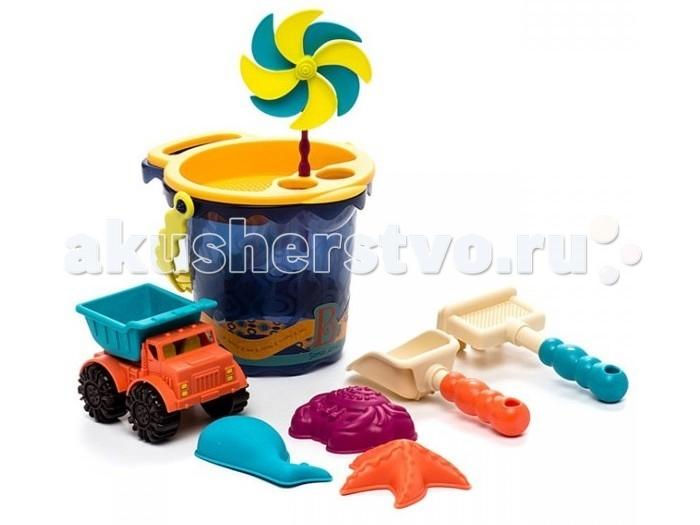 Летние товары , Игрушки в песочницу Battat B.Summer Малое ведерко и игровой набор для песка темно-синий 9 деталей арт: 130991 -  Игрушки в песочницу