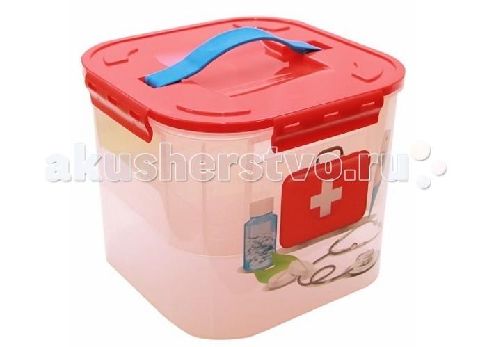 Ящики для игрушек Idea (М-Пластика) Контейнер для детских принадлежностей Аптечка 7 л контейнер для хранения idea фрукты 7 л