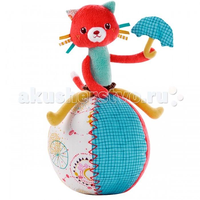 Развивающая игрушка Lilliputiens Кошечка Коллет неваляшкаКошечка Коллет неваляшкаРазвивающая игрушка Lilliputiens Кошечка Коллет неваляшка. Толкайте Коллет в разные стороны и услышите звон колокольчика.  Игрушка сшита из качественных гипоаллергенных материалов, безопасна для ребёнка. Она мягкая, лёгкая и хорошо подходит даже для самых маленьких детишек.<br>