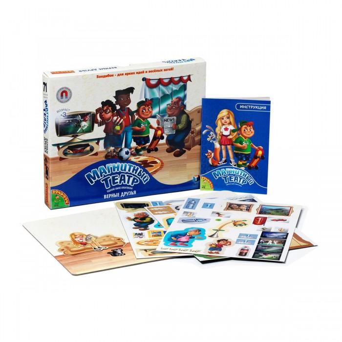 Книжки , Книжки-игрушки Bondibon Магнитный театр Верные друзья 71 магнит арт: 131537 -  Книжки-игрушки