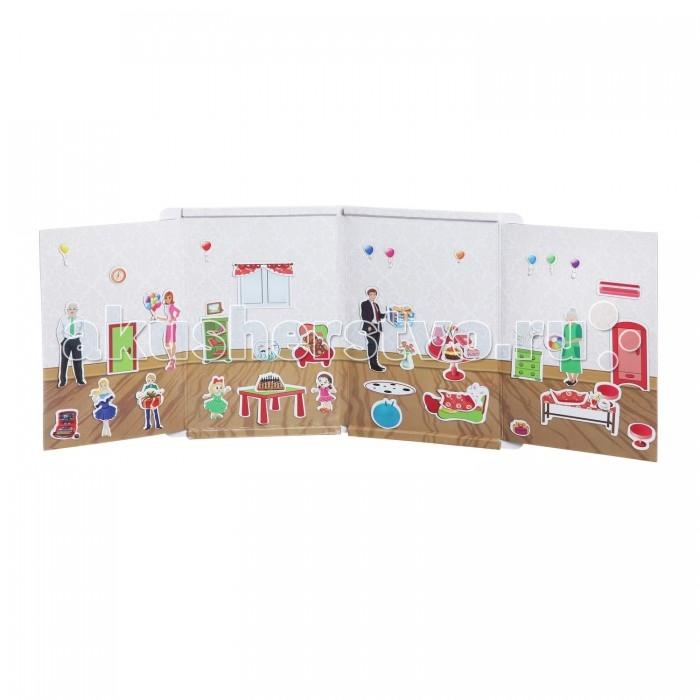 Книжки-игрушки Bondibon Магнитный театр Праздник 64 магнита магнитный театр bondibon хозяюшка 73 магнита