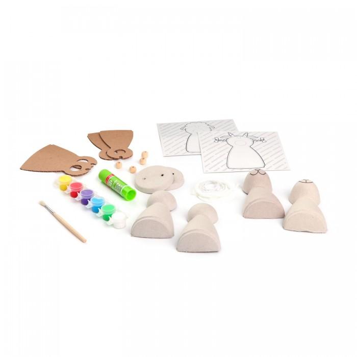 Наборы для творчества Bondibon Набор для детcкого творчества Игрушки из шар-папье овечка и козочка наборы для творчества bondibon набор для творчества роспись по дереву