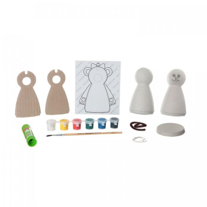 Наборы для творчества Bondibon Набор для детcкого творчества Игрушка из шар-папье обезьянка (девочка) наборы для творчества bondibon набор для творчества роспись по дереву