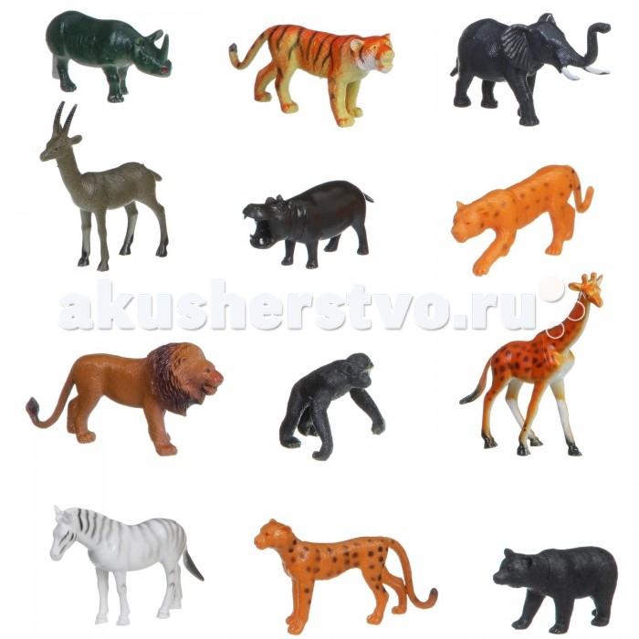 Игровые фигурки Bondibon Набор животных Ребятам о Зверятах Животные джунглей 42 шт. bondibon набор животных ребятам о зверятах дикие животные 5 дюймов 6 шт