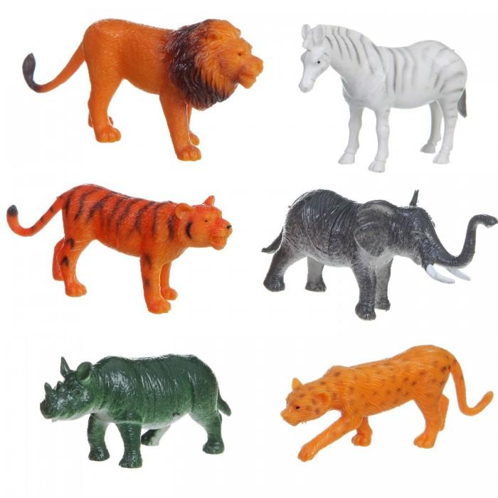 Игровые фигурки Bondibon Набор животных Ребятам о Зверятах Дикие животные 3-4 дюйма 6 шт. bondibon набор животных ребятам о зверятах дикие животные 5 дюймов 6 шт
