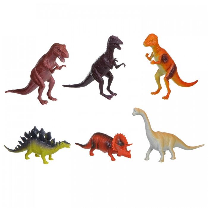 Игровые фигурки Bondibon Набор животных Ребятам о Зверятах Динозавры 8-10 дюймов 6 шт.