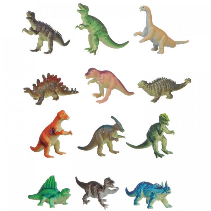 Игровые фигурки Bondibon Набор животных Ребятам о Зверятах Динозавры 5 дюймов 12 шт. о животных