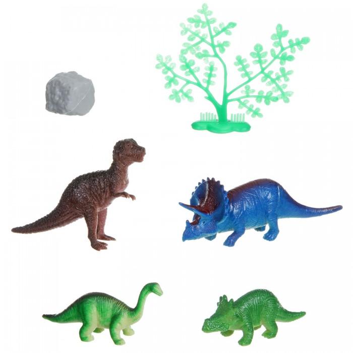 Игровые фигурки Bondibon Набор животных Ребятам о Зверятах Динозавр 2-4 дюйма 4 шт. о животных