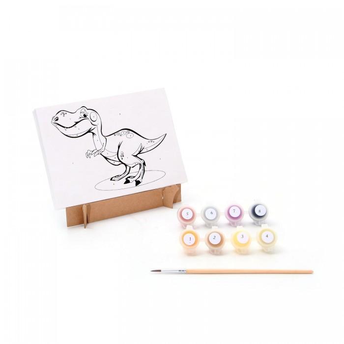 Раскраски Bondibon по номерам Динозавр наборы для рисования цветной раскраски по номерам сова голова