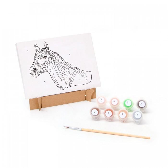 Раскраски Bondibon по номерам Лошадка наборы для рисования цветной раскраски по номерам сова голова