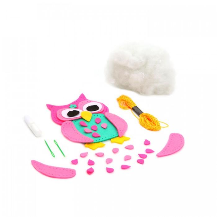 Наборы для творчества Bondibon Набор для творчества МК Игрушка из фетра Сова наборы для творчества апплика набор для детского творчества мягкие игрушки из фетра щенок