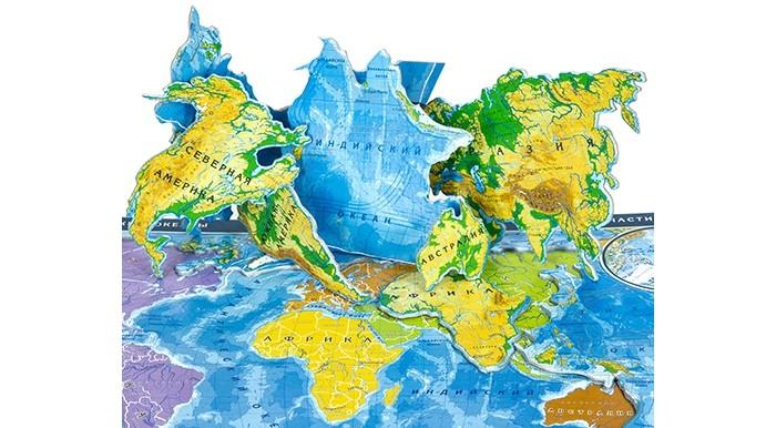 Пазлы Геоцентр Карта пазл Мир