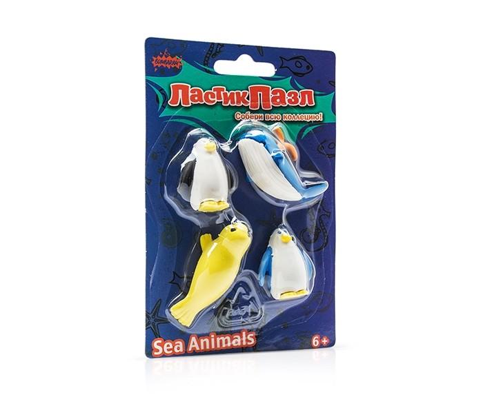 Пазлы Бумбарам Ластики - пазлы Морские животные ластики пазлы канцелярия в блистере 12 sunde 9001 6