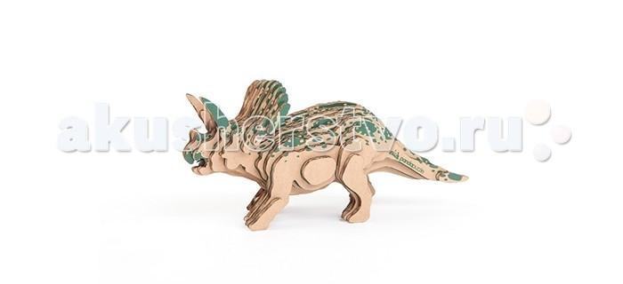 Конструкторы Panda Puzzle 3D Торозавр 30 деталей пазлы crystal puzzle 3d головоломка вулкан 40 деталей