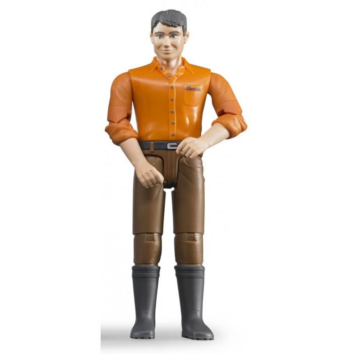 Игровые фигурки Bruder Фигурка мужчины в коричневых джинсах