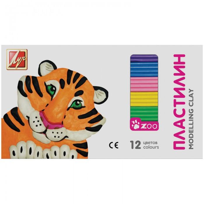 Всё для лепки Луч Пластилин ZOO 12 цветов 162гр всё для лепки луч пластилин классика 18 цветов 360гр со стеком