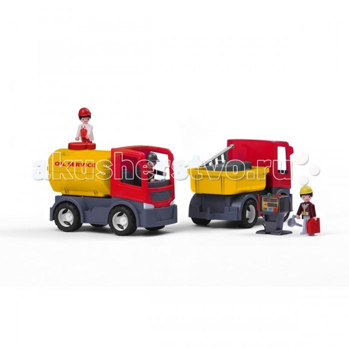 Multigo Грузовик с цистерной и сменным кузовомГрузовик с цистерной и сменным кузовомMULTIGO (EFKO) Грузовик с цистерной 1+2. Доставь грузовик с топливом к заправочной станции для заправки или транспортировки чего потребуется, используя дополнительный кузов грузовой платформы.  Набор можно свободно комбинировать с другими персонажами и игрушками из мира POKEETO.<br>