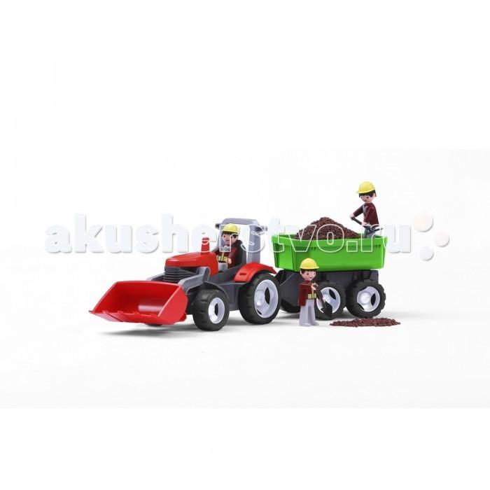 Multigo Трактор 1+2Трактор 1+2MULTIGO (EFKO) Трактор 1+2. Трактор MultiGO (бренд Zetor) со съемным ковшом и универсальным прицепом - мечта всех маленьких фермеров. Этот набор также можно свободно комбинировать с другими персонажами и игрушками из мира POKEETO.<br>