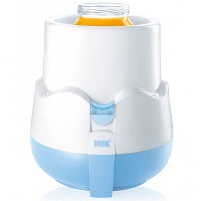 Nuk Подогреватель детского питания Thermo-RapidПодогреватель детского питания Thermo-RapidПаровой подогреватель детского питания Thermo-Rapid подогревает детскую еду быстро и эффективно (всего за 3-4 минуты). Подходит для всех доступных в широкой продаже видов бутылочек для кормления и баночек с питанием.   По удобной таблице можно посмотреть, сколько воды потребуется для того, чтобы разогреть молоко или пюре, и за сколько минут питание разогреется до нужной температуры в 37°C.   Удобен в использовании: просто налить воду и нажать на кнопку. Встроенный световой индикатор сопровождает процесс нагревания. Автоматическое отключение после нагревания. Благодаря корзиночке, бутылочки и баночки очень удобно доставать.<br>