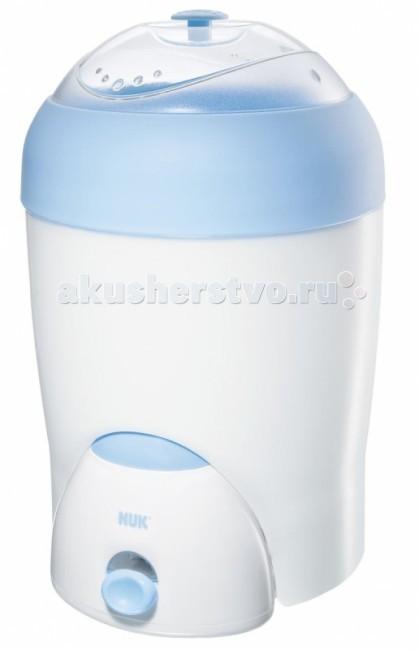 Nuk Паростерилизатор Vapo RapidПаростерилизатор Vapo RapidПаровой стерилизатор NUK Vapo Rapid дезинфицирует горячим паром до 6 бутылочек и аксессуаров за 8 минут.  Убивает все микробы при температуре свыше 90°C, надежно дезинфицирует бутылочки и аксессуары.   Безопасен в использовании, со световым индикатором - выключается автоматически.   Возможно хранение дезинфицированных предметов до 24 часов, не нарушая герметизацию. Одновременная стерилизация 6 детских бутылочек NUK FIRST CHOICE и аксессуаров, а также подходит для всех стандартных бутылочек.   Паростерилизатор получил Сертификат CE в Немецком институте инженеров по электричеству.  В комплект входит:  • паровой электрический стерилизатор NUK (НУК); • мерный стаканчик; • щипцы для бутылочек; • корзина для аксессуаров; • держатель для 5 бутылочек с широким горлышком NUK First Choice и др.<br>