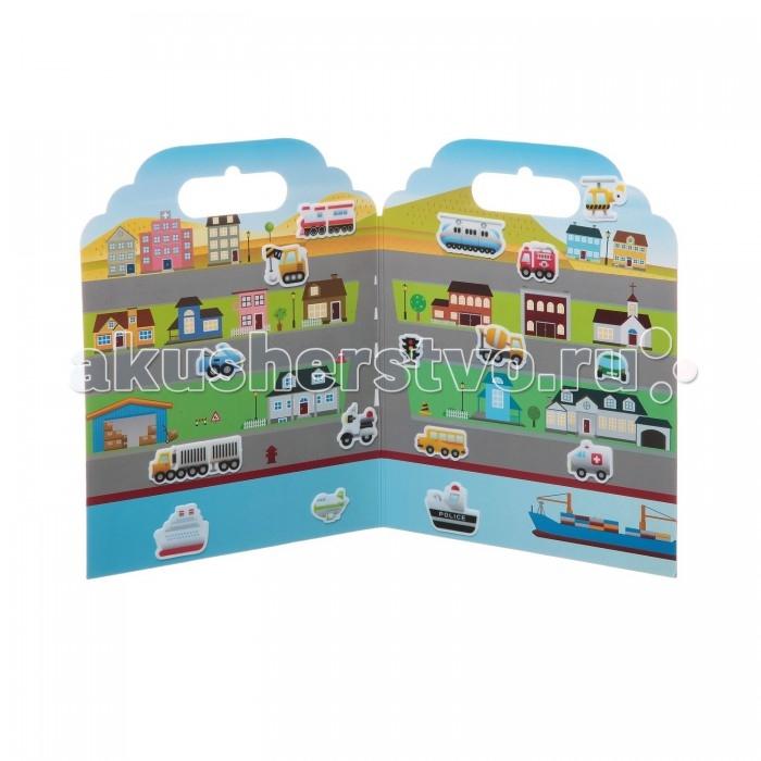 Картинка для Детские наклейки Bondibon Набор наклеек Нано-стикер Транспорт 19x24 см