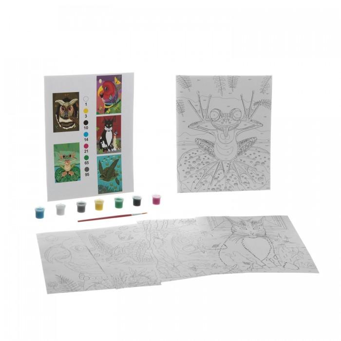 Раскраски Bondibon по номерам с акриловой краской, Окружающий мир, 22x29 см наборы для рисования цветной раскраски по номерам сова голова