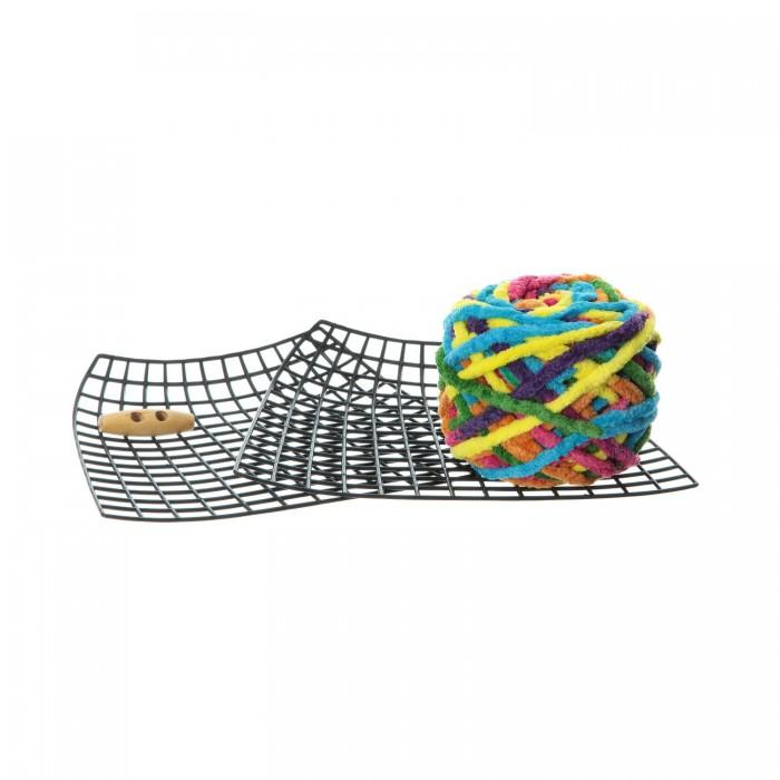 Наборы для творчества Bondibon Набор Я дизайнер сделай сумку из синельной пряжи 20x15 см
