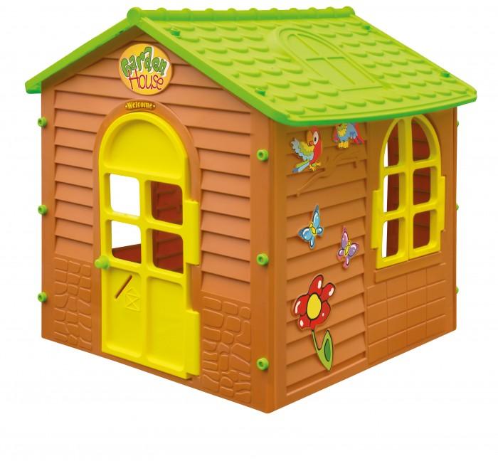 Игровой домик Mochtoys 1083010830Mochtoys Домик для игр 10830  Игровой домик Mochtoys, сделанный из высококачественная прочного пластика — это прекрасный выбор для любого ребенка. Пластиковый домик имеет окна и двери ярких тонов, которые не выцветают. Размеры домика достаточны, чтобы вместить несколько детей одновременно, что обеспечивает невероятные возможности для совместных игр малышей на свежем воздухе. Кроме того, домик для детей был сконструирована так, чтобы исключить острые края, поэтому он абсолютно безопасен для наших детей<br>